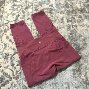 Lululemon all the right places crop moss rose 8